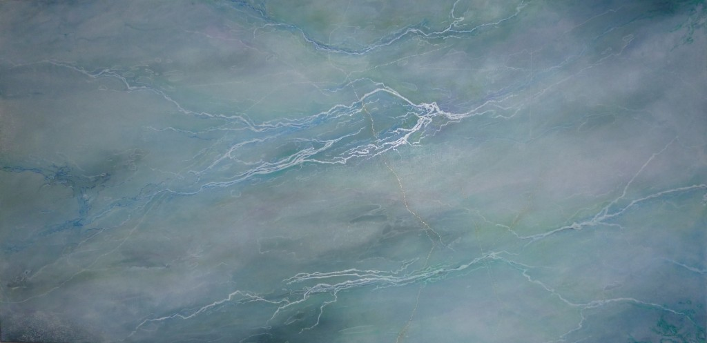 Anna Taylor  Earthscape 2011 Ink & acrylic on canvas 101 x 51 cm